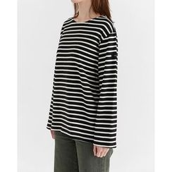 Someday, if - Striped Cotton T-Shirt
