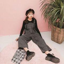 MISS YOYO - Houndstooth Jumper Pants