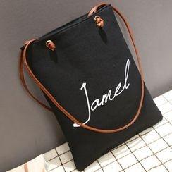 Aoba - 印花帆布手提包