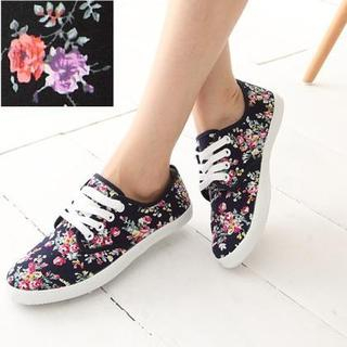 Maymaylu Dreams - Floral-Print Canvas Sneakers