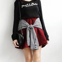Tokyo Fashion - Mock Two-Piece A-Line Skirt