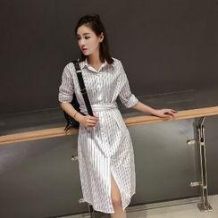 Romantica - Striped Collared Dress