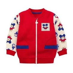 Ansel's - Kids Cartoon Print Bomber Jacket