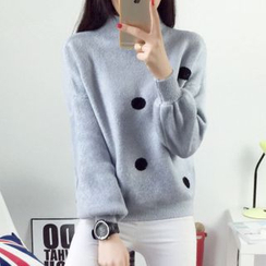 AiSun - Dotted Knit Top