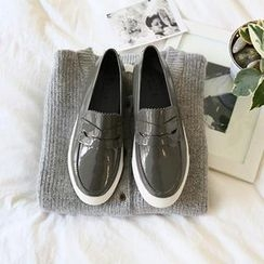 NANING9 - Patent Color-Block Loafers