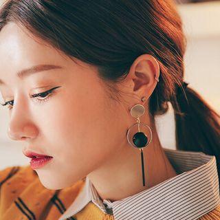 HayHill - Round Dangle Earrings / Clip-On Earrings