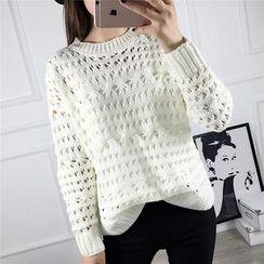 TOJI - Plain Cutout-Knit Top
