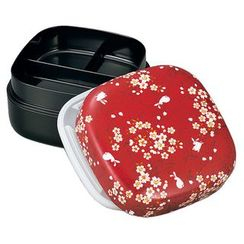Hakoya - Hakoya Nunobari Picnic Lunch Box Red Sakura Usagi