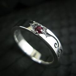 Sterlingworth - Ruby Sterling Silver Ring