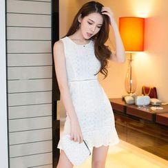 Aurora - Sleeveless Ruffled Dress