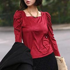 SO Central - Square-Neck Long-Sleeve Top