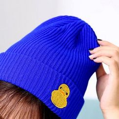 Seoul Young - Duck Embroidered Beanie