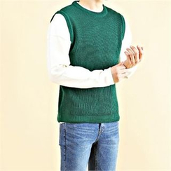 THE COVER - Round-Neck Knit Vest
