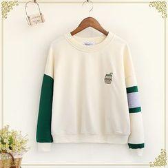 Fairyland - Colour Block Embroidered Sweatshirt