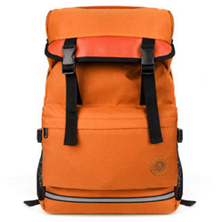 Mr.ace Homme - Buckled Panel Canvas Backpack