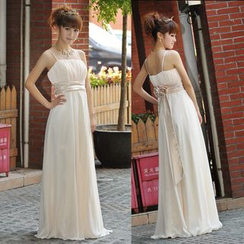 Bridal Workshop - Sleeveless Shirred A-line Evening Gown