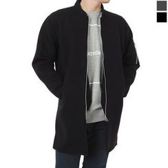 Seoul Homme - Neoprene Zip-Up Long Jacket