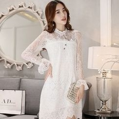Romantica - Long-Sleeve Lace Dress