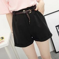 Honey House - Rolled Elastic Waist Shorts