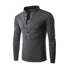 Fireon - Stand Collar Long-Sleeve Henley