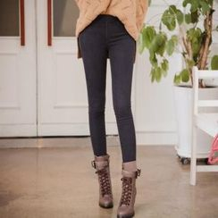iam-girl Band-Waist Skinny Jeans