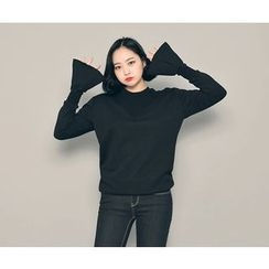 HOTPING - Round-Neck Bell-Sleeve Pullover