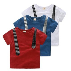 WellKids - Kids Tie-Accent T-Shirt