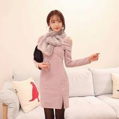 DABAGIRL - Cutout-Shoulder Knit Bodycon Dress