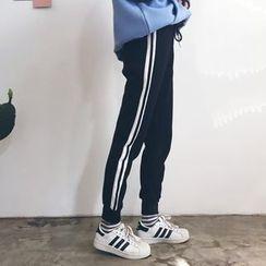 YUKISHU - Striped Jogger Pants