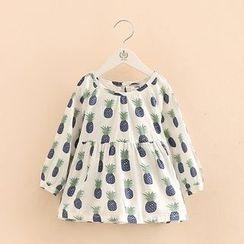 贝壳童装 - 儿童菠萝印花裙衣