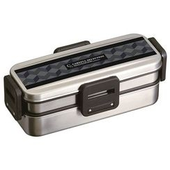 Skater - Careful Selection 4 Lock Stainless 2 Layer Lunch Box