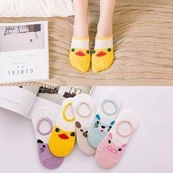 Shopin - Set of 5: Animal Print Socks