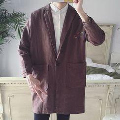 Streetstar - 刺繡長款西裝外套