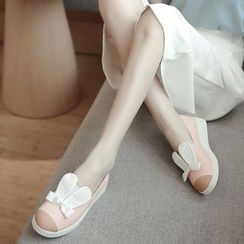 Pretty in Boots - Rabbit Ear Slip-Ons