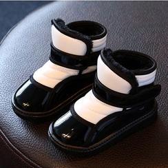 綠豆蛙童鞋 - 童裝插色短靴