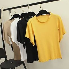 Honey House - Frilled Trim T-Shirt