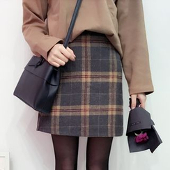 YUKISHU - Plaid A-Line Skirt