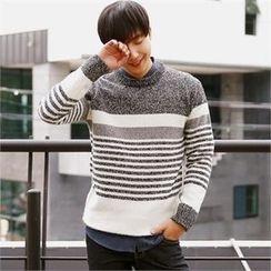 Smallman - Round-Neck Stripe Sweater