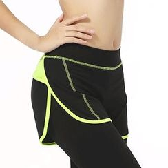 Zosia - Mock two-Piece Cropped Legging / Training Yoga Pants