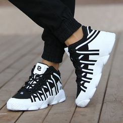 MR.GONG - Panel High-top Sneakers