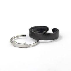 Goldion - Couple Matching Cat Ear Open Ring