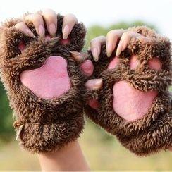 Montebello - Paw Fingerless Gloves