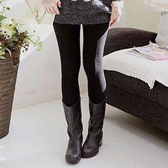 Sechuna - Brushed Fleece Leggings Pants