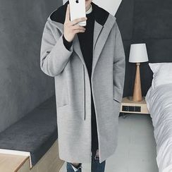 qiaqiayes - Hooded Long Woolen Coat