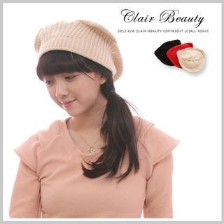 Clair Fashion - Ear-Accent Knit Beanie
