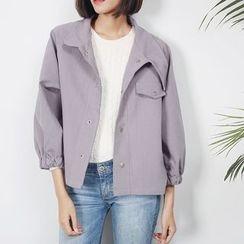 Sens Collection - 纯色钮扣外套