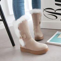Pastel Pairs - Furry Trim Snow Boots