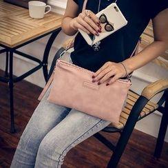 Seok - Faux Leather Clutch