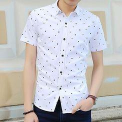 Evzen - Star Patterned Short-Sleeve Shirt