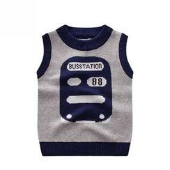 Endymion - Kids Bus Print Knit Vest